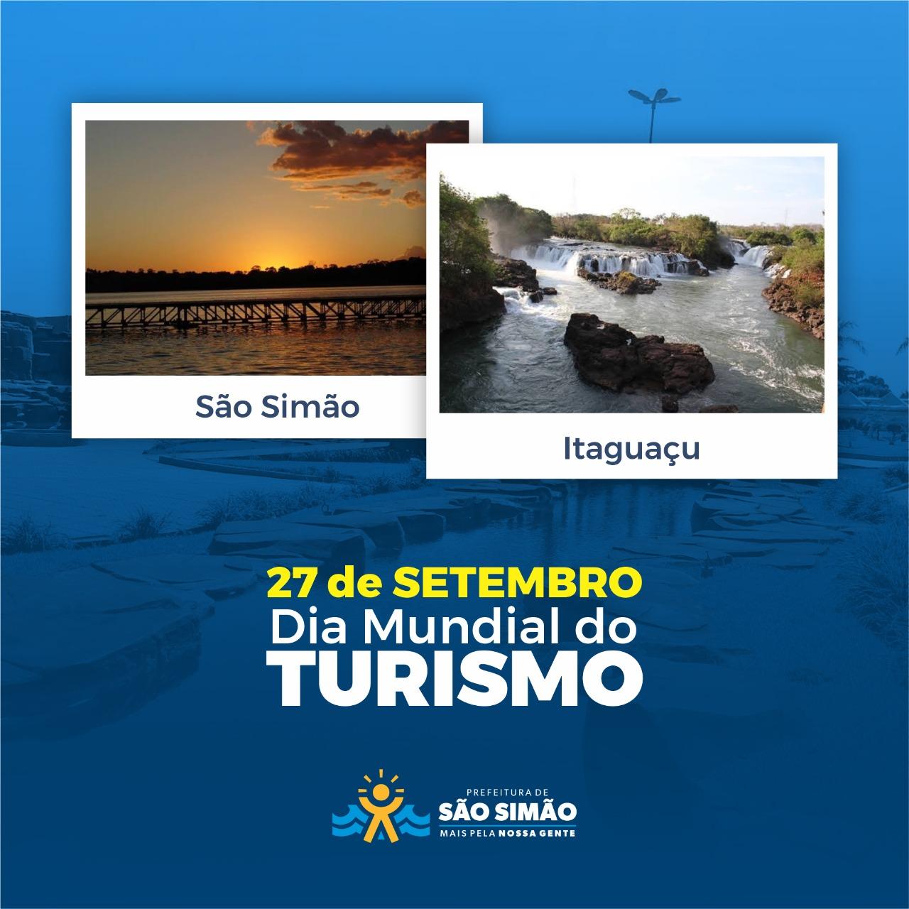 Hoje é comemorado mundialmente o dia do turismo!
